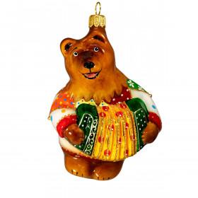 """Медведь с гармошкой """"веселые лоскутки"""""""
