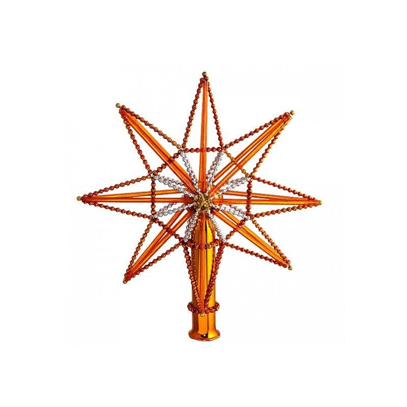 "верхушка ""Звезда монтажная-2"" серебристо-золотая (Ёлочка)"