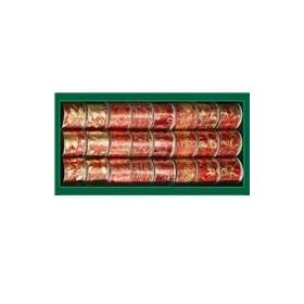 Лента для декора золотисто-красная с узором