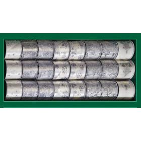 Лента для декора серебряная с узором