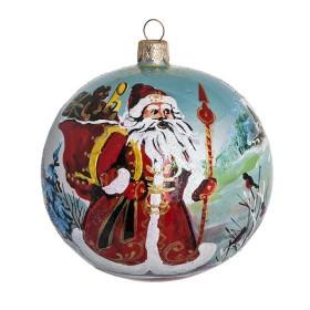Шар 100мм Дед Мороз с подарками (Бирюсинка)