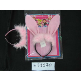 Ободок карнавальный, ушки зайца с пушком