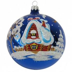 """Шар """"Ночь перед Рождеством"""" 95мм (Елочка)"""