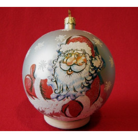 Шар 95мм Дед Мороз 2 (Бирюсинка)
