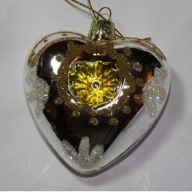 Сердце серебристо-золотое (Holiday classic)