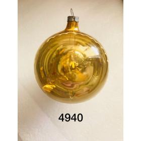Шар золотой с прозрачным окном 8.5см