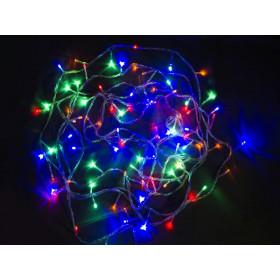 Электрогирлянда 100 разноцветных LED 9.5м