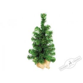 Елочка настольная зеленая в холщовом мешочке, 60 см