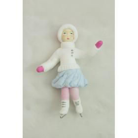 Девочка на коньках (Ватная игрушка г.Коломна)