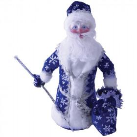 Дед Мороз под елку 40см синий