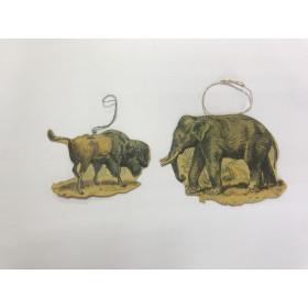 Набор : бизон и слон ( тонкий картон)