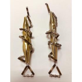 Серьги-подвески (стеклярус) , цена за пару