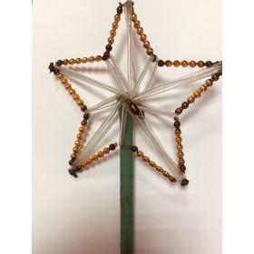 Звезда-верхушка из стекляруса 25см